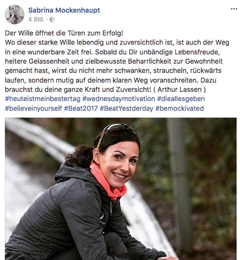 Mocki startete sportlich in das neue Jahr. Foto: Facebook Screenshot.